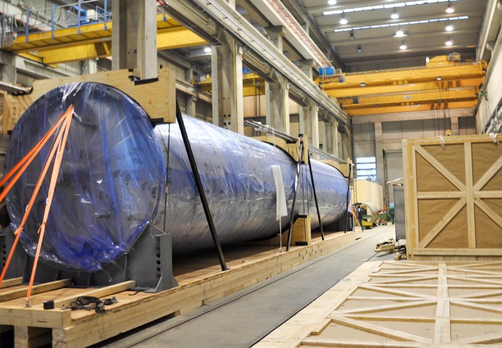 imballaggio e spedizione macchinario industriale
