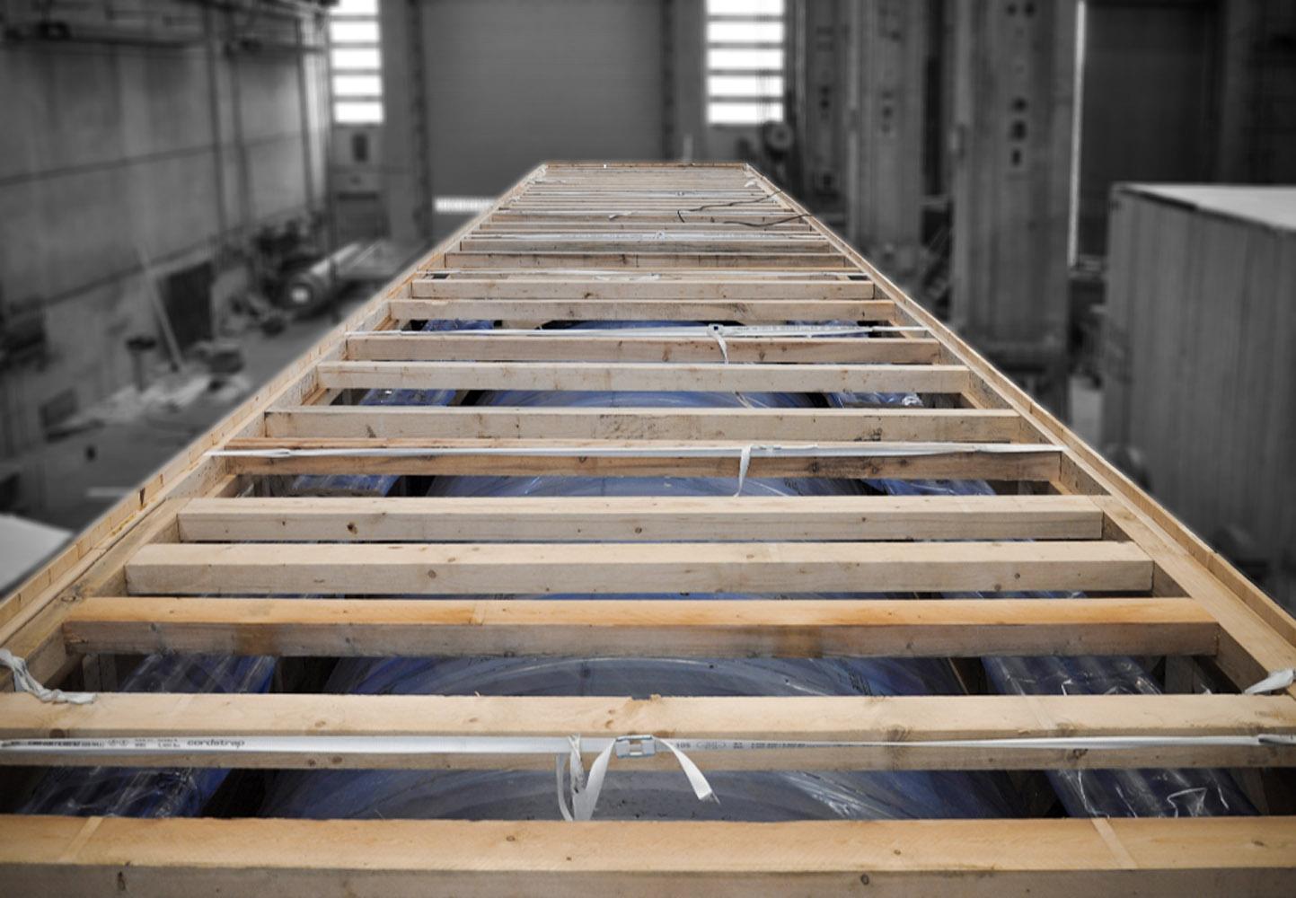 coperchio cassa in legno per macchinario industriale